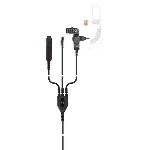 HDS-14 3-wire semi covert kit with clear tube earpiece